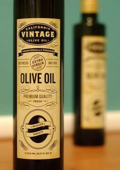 Benjamin Della Rosa // Graphic Design // Illustration #branding #bottle #packaging #label #black #olive #vintage #oil #typography