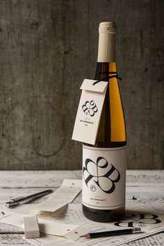 Bernadett Bajis CV wine label by Miklós Kiss #logo #wine label
