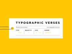 Typographic Verses