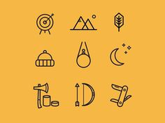 Adventure icons #pictogram #icon #sign #picto #symbol
