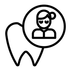 See more icon inspiration related to dental, healthcare and medical, medical assistance, dentist, tooth, professional, user, healthcare and woman on Flaticon.