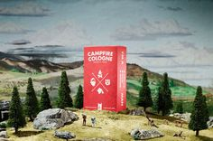 Campfire Cologne Instructions #campfire #illustration #cologne #futura #minature #typography