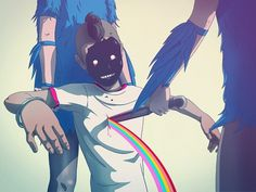 Random on the Behance Network #rainbow #illustration #knife #comics