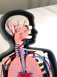 0-headondesk #cut #body #anatomy #human #illustration #paper