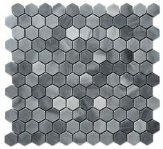 """Graystoke 1x1"""" Hexagon Honeycomb Honed Mosaic Floor Wall Tile"""