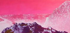 Sci-Fi-O-Rama / Science Fiction / Fantasy / Art / Design / Illustration #pink #fi #sci #landscape #mountains