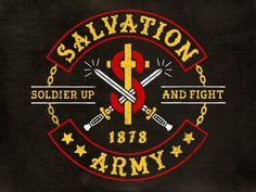 Dribbble - War Drobe Mc by Richie Stewart #army #logo #sword #salvation