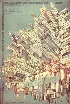 20 awesome posters for your inspiration #inception #design #graphic #poster #film