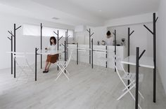 id present small forest like interior for cafe ki in tokyo