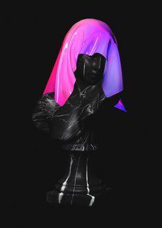Next Wave (part. III) artwork by Quentin Deronzier #artwork #marble #statue #black