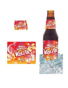 Malta Regional Colita on the Behance Network #malta #red #kolita #drink #design #orange #graphic #identity #venezuela