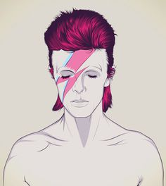 Bowie -Aladdin Sane - Illustration - CranioDsgn