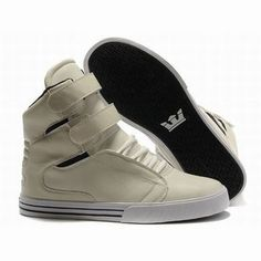 men's supra tk society high tops beige white skate shoes #fashion