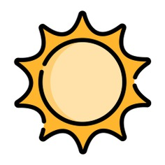 See more icon inspiration related to sun, weather, brightness, illumination, light, star and nature on Flaticon.