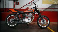 Blitz Motorcycles   Bikes   Yamaha 500 SR 'DirtTrack'