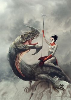 Dragon rider on Behance #rider #illustration #fantasy #dragon
