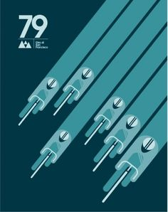 OMG Posters! » Archive » New Art Prints from Super7 #bikes #minimalistic #print #bicycles #minimal #poster #teal