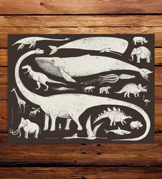 Large Creatures Art Print by Factory 43