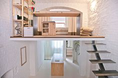 Small studio apartment design R3Architetti - www.homeworlddesign. com (1) #loft #apartment #torino #tiny