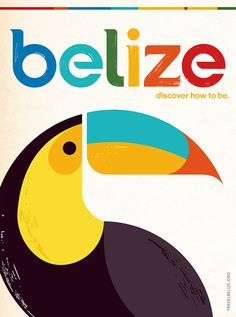 Belize Vintage Travel Poster #belize #travel #poster