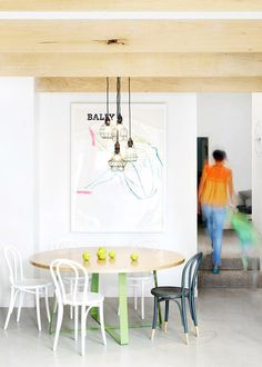est magazine pastel thonet chairs #interior #chair #design #decor #deco #decoration