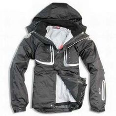 North Face Windstopper Jacket White Black-Mens