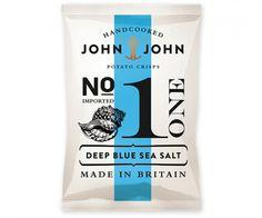 John & John PotatoCrisps - TheDieline.com - Package Design Blog #packet #packaging #crisp #johnjohn #nautical