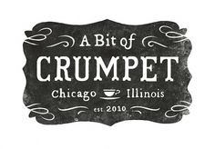 A Bit of Crumpet logo | Flickr – Condivisione di foto! #white #design #graphic #black #and #logo