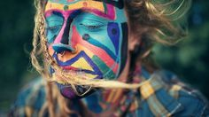 The Rainbow Family portraits by Benoit Paillé I Art Sponge #benoit #color #paint #photography #hippie #portrait #face #paille