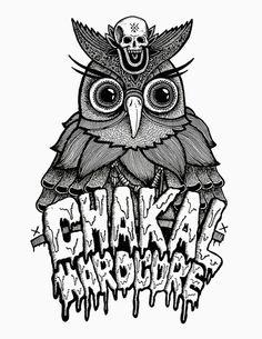 Chakales Hardcore, Ilustración realizada junto a Rodrigo Díaz(https://www.facebook.com/pages/Chakales/360500990685345?fref=ts) #illustration #poster