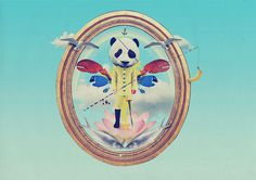 Fisherpanda on Behance #banana #sky #fisherpanda #lobster #collage #blue