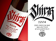 Jordan Jelev #calligraphy #label #wine #shiraz #typography