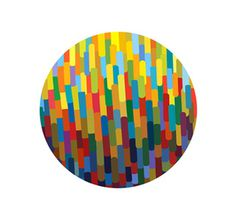 Art exibition event identity #circle #sign #identity #logo #colour