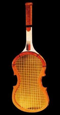 Violin racquet, 1983 - 80s-tennis.com #violin #1983 #racquet