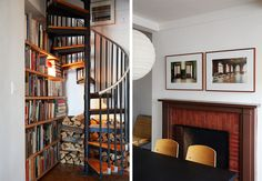 Wood, stairs, dining room