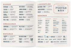 design work life » cataloging inspiration daily #retro #blue #red #menu #collateral #ivory #cream #light blue