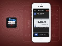 Paysmard interface design ramotion big #iphone #app