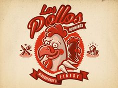 The Chicken Brothers #hermanos #vector #breaking #los #illustration #logo #pollos #bad