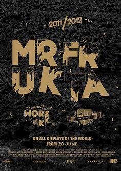 MRfrukta #2012 #print #design #identity #mrfrukta #poster #logo #typography