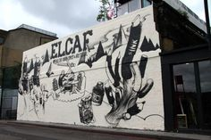 ELCAF #festival #london #comic #illustration #wall #elcaf #art #street #painting