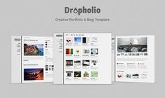 Dropholio - homepage psd Free Psd. See more inspiration related to Portfolio, Psd, Templates, Blog, Wordpress, Homepage and Horizontal on Freepik.