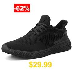 AILADUN #Men's #Sport #Shoes #Breathable #Large #Size #- #BLACK