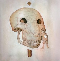 FFFFOUND! | Joao Ruas - BOOOOOOOM! - CREATE * INSPIRE * COMMUNITY * ART * DESIGN * MUSIC * FILM * PHOTO * PROJECTS #white #negative #child #space #balance #painting #skull #drawing