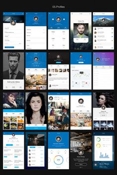 Hexagon iOS 8 Mobile UI Kit