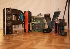Play it fuck´n loud! on Behance #sound #lettes #play #typography
