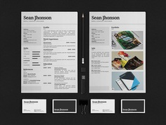 Free Personal Identity with Resume, Business Card, Portfolio and Cover Letter