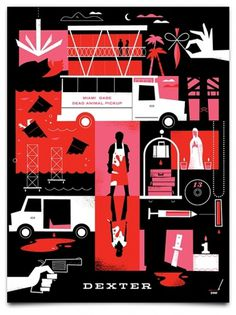 Dexter-Inspired Posters « Mattson Creative #illustration #vector #dexter #poster