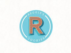 Reggie Southerland #logo #branding #sweets #cookie #typography #perspective #blue #orange #mark #label #sticker