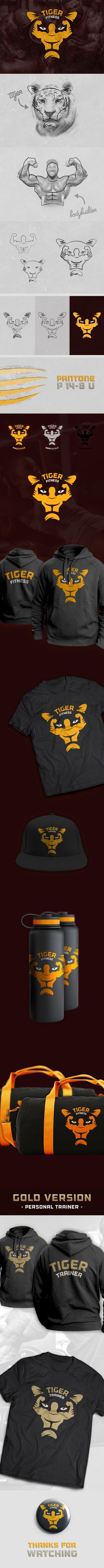 Tiger Fitness Center #logo design #inspiration #brand #identity