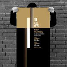 projectgraphics - typo/graphic posters #kosovo #10 #event #years #philharmony #prishtina #projectgraphics #poster